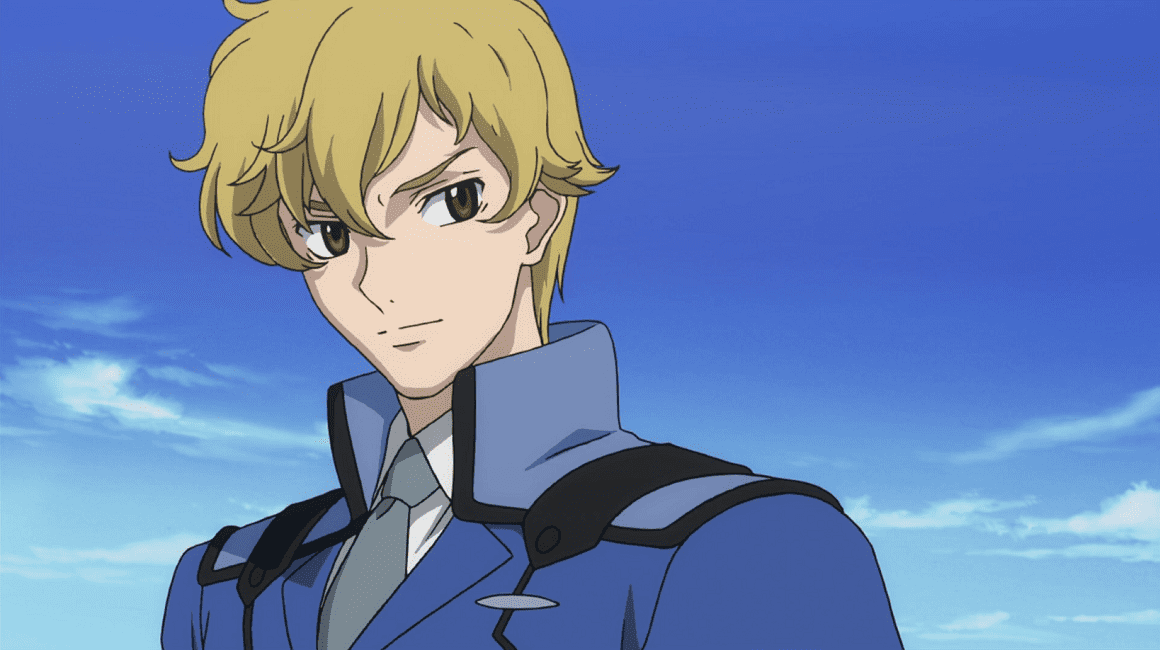 Graham Aker smiling in his uniform and against a clear blue sky