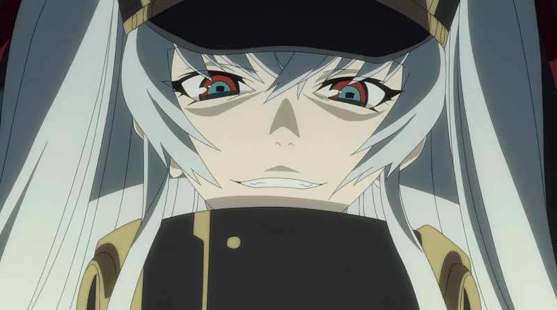 Re Creators characters Altair smiling in her military outfit