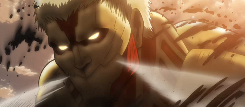 Armored Titan letting off steam
