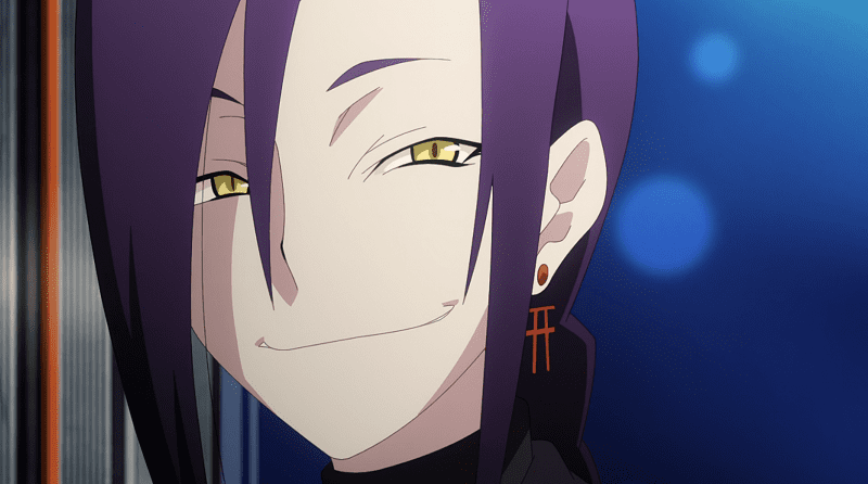 Magane Chikujoin smiling with bright eyes