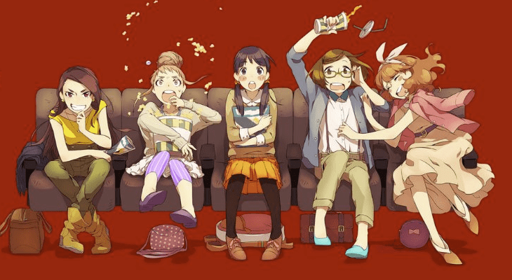Scotland Loves Anime 2021 characters watching anime together