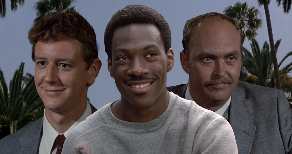 Eddie Murphy's Axel Foley with Rosewood and Taggart