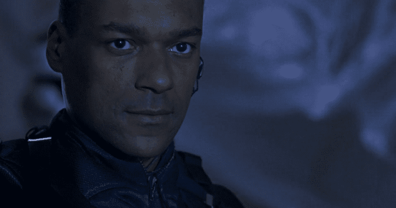 Colin Salmon as James Shade looking serious