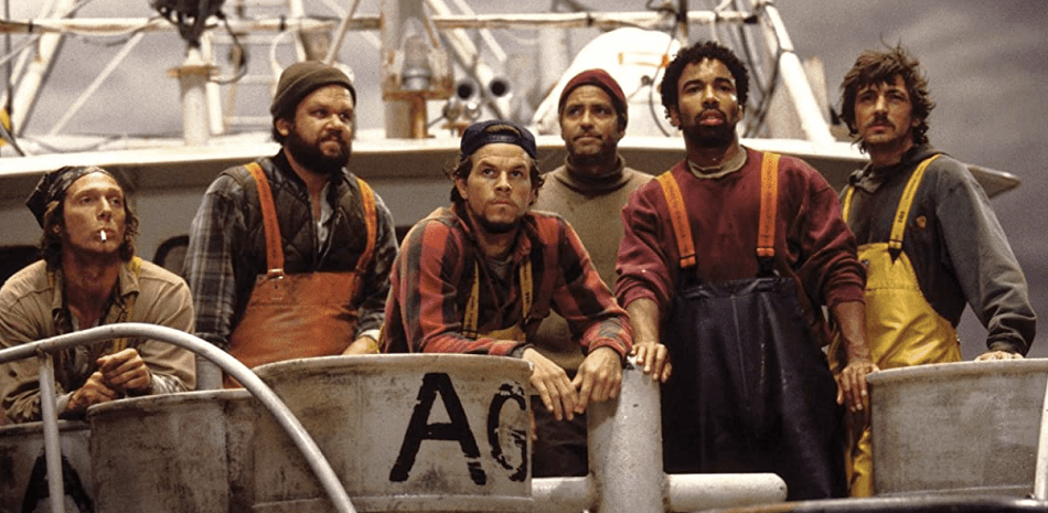 The Perfect Storm characters on the Andrea Gail fishing boat